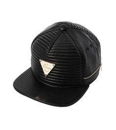 Hater Leather Ribbed & Zippered snapback