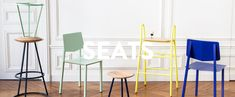 Various seating from Parisian trend brand, Hartô, hits on a retro palette we continue to see. #Aug2015