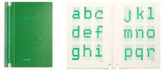 Hans von Klier, Perry A. King, Santiago Miranda, Studio di un carattere a matrice di punti per la ECMA / Study for a font for matrix printers, Olivetti, 1974, courtesy Perry King e Santiago Miranda.