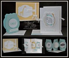 Zoo babies Triple Accordion Suite by Kirsteen Gill - Cards and Paper Crafts at Splitcoaststampers