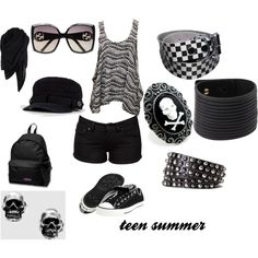 """teen summer"" by alicerosali on Polyvore"