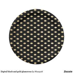 Digital black and gold glamorous paper plate  sc 1 st  Pinterest & Glitter Confetti Shower | gold black 7 Inch Paper Plate | Nikah ...