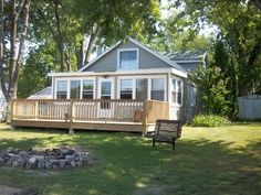 VRBO.com #334863 - Twin Lakes Cottage, Private Beach & Pier, 5 Bedrooms Sleeps 14. $150/nt, 2 night min. Limited dates - early part of June or August.