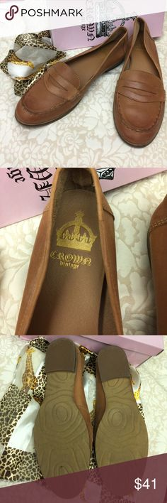 """Crown 👑 Vintage """"New Brown"""" Penny Loafers 11 Worn twice. Too small for me but oh so soft and supple!  Leather upper. Size 11. Perfect for summer!  BUNDLED PRICE = $19.55 😊 Crown Vintage Shoes Flats & Loafers"""
