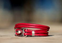 Bohemian leather wrap bracelet womens bracelet  handmade