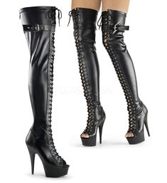 Pleaser SHOES & BOOTS : Platforms (Exotic Dancing) : Thigh High Boots