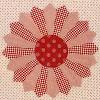 """""""red dresden block""""  [by: Joy  http://joysthoughtsandthings.blogspot.com/2012/05/red-and-white-dresden.html]  'h4d' 120811"""