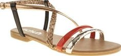 Schuh Multi Essential Womens Sandals No need to pack those sparkly heels this summer as schuh sorts you out with the Essential. This cute sandal features black, coral, bronze, animal print and cracked silver straps, perfect for souvenir  http://www.comparestoreprices.co.uk/january-2017-8/schuh-multi-essential-womens-sandals.asp