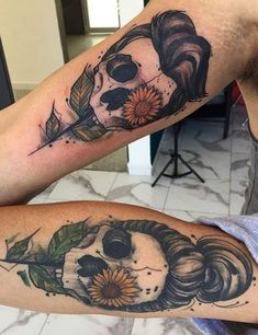 The 26 best couple tattoos that make the world talk - 26 best couple tatt . - The 26 best couple tattoos that make the world talk – 26 best couple tattoos that make the world - Key Tattoos, Unique Tattoos, Beautiful Tattoos, Body Art Tattoos, Sleeve Tattoos, Spine Tattoos, Floral Skull Tattoos, Sugar Skull Tattoos, Skull Couple Tattoo