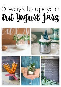 Repurposed Yogurt Jar Votive Gift Idea Crafts Crafts With Glass