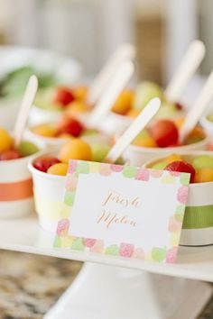 Make Your Own Melon Cups in Celebrate Mom With a Simple Mother's Day Lunch from HGTV
