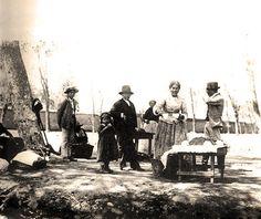 Venta de mote con huesillos, principios del siglo XX