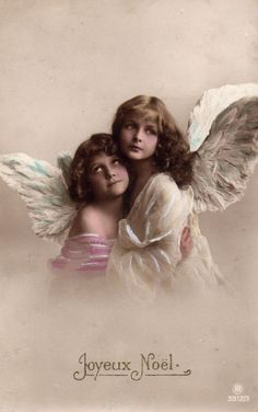 Stamps, coins and banknotes, postcards or any other collectable items are on Delcampe! Vintage Cards, Vintage Postcards, Vintage Images, Christmas Angels, Vintage Christmas, Decoupage Vintage, Baby Sister, Illustrations, Beautiful Models