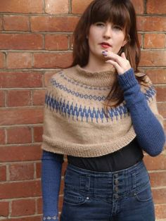 Love Turtle Poncho with Floating Sleeves in UK Alpaca Super Fine DK - FREE PATTERN
