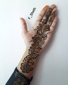 Beautiful and Easy Mehndi Design Collection, Heena and Arabic Mehndi Design – Fashion There … Rose Mehndi Designs, Latest Arabic Mehndi Designs, Mehndi Designs For Beginners, Dulhan Mehndi Designs, Mehndi Designs For Fingers, Stylish Mehndi Designs, Mehndi Design Photos, Beautiful Mehndi Design, Wedding Mehndi Designs
