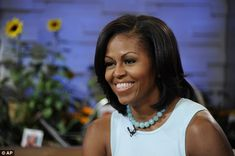 Fan: Mrs Obama appeared on Good Morning America to promote her new book, talk about the challenges of gardening - and reveal her admiration for U.S. singer Beyonce