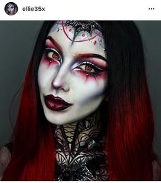 Looking for for ideas for your Halloween make-up? Browse around this site for creepy Halloween makeup looks. Creepy Halloween Makeup, Up Halloween, Halloween Costumes, Witch Makeup, Fx Makeup, Devil Makeup, Beauty Makeup, Horror Make-up, Fantasy Make Up