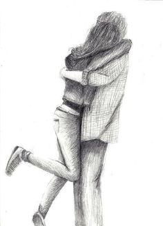 Cute Couple Drawings, Cute Couples Drawings, Hugs Drawings, Love Drawings Couple Sketches, Couple Drawings Sketches, Drawings Of Couples Hugging...
