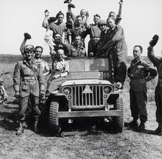 Willys MB jeep with field markings
