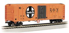 This Santa Fe 50' Steel Reefer N scale Box car will look great in your Santa Fe collection we are now shipping in clear plastic boxes for display and storage convenience.  Click http://www.livelocomotion.com/product/BAC70952 to receive your Santa Fe box car for $14.50