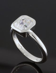 Asscher+Cut+Diamond+Platinum+Ring+by+sennah47+on+Etsy,+$13,600.00