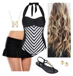 """""""Untitled #222"""" by dawn-star on Polyvore featuring A.N.A, IPANEMA, Ross-Simons and Valentino"""