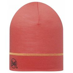 Merino Wol 1-Layer muts Buff Solid Coral