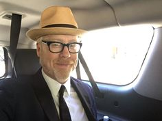 American television personality Adam Savage wearing Borsalino during the Emmys night.