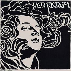 Koloman MOSER, couverture de Ver Sacrum, 1899, encre de chine,  41x41cm