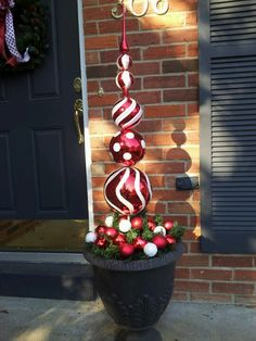 Consider this with in other colors for front porch Christmas decor