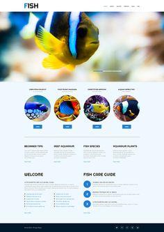 Fish #Responsive #WordPress Theme #53000  #html5 #less #css3 via @templatemonster