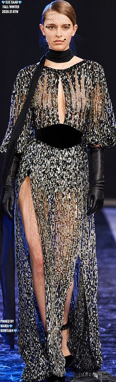 Elegant Gloves, Elie Saab Fall, Elie Saab Couture, Ellie Saab, Black Leather Gloves, Glamour, Beautiful Gowns, Fashion Sketches, Evening Gowns