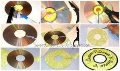 DIY Closet Dividers from old CDs, i'm totally gonna do that