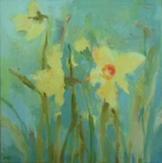 ARTFINDER: Narcissi by Kate Osborne - Narcissi on a box canvas