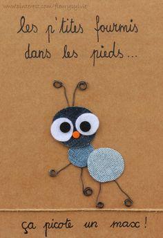 Les fourmis dans les pieds, ça picote un max! #jeans #recycle http://pinterest.com/fleurysylvie/mes-creas-la-collec/ et www.toutpetitrien.ch