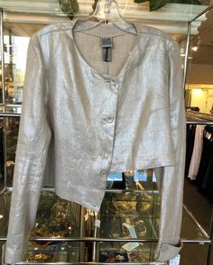 #Lilith #Jacket #Metallis # Linen | Size M | Retail $525 | Our Price Only $210! Call for more info (781)449-2500. #FreeShipping #ShopConsignment  #ClosetExchangeNeedham #ShopLocal #DesignerDeals #Resale #Luxury #Thrift #Fashionista