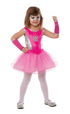 Marvel - Pink Spider-Girl Costume Contains one Marvel - Pink Spider-Girl Costume which includes a tutu dress, and mask. This is an officially licensed Marvel costume. Weight (lbs) 0.41 Length (inches)