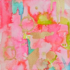 Pink Abstract Print Giclee Reproduction of by LimezinniasDesign