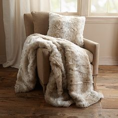 Purchased -- Arhaus Bobcat Faux Fur Speckled Throw $139