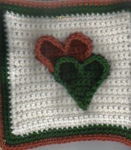 HEART AFGHAN Square Crochet Pattern - Free Crochet Pattern Courtesy of Crochetnmore.com#