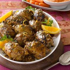Chicken Thighs Mustard Citrus Sauce recipe – Low fat recipe