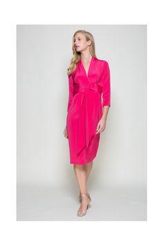 Wink Pink 1940s Tie Front Model Shot