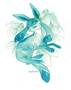 Glaceon is one of my favorite Pokemon Pokemon Fan Art, Gladio Pokemon, Pokemon Eeveelutions, Pikachu, Eevee Evolutions, Pokemon Especial, Pokemon Pictures, Animal Drawings, Amazing Art
