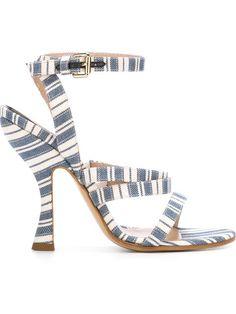 VIVIENNE WESTWOOD Stripe Heeled Sandals. #viviennewestwood #shoes #sandals