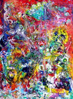 """Saatchi Art Artist Igor Eugen Prokop; Painting, """"63. BERLIN. MY TRAVEL FLASHES."""" #art"""