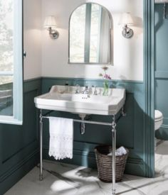Discover the stunning Burlington Edwardian Basin and Chrome Wash Stand. A fantastic way to improve the look of your traditional bathroom. Now online. Mold In Bathroom, Boho Bathroom, Budget Bathroom, Bathroom Renovations, Small Bathroom, Family Bathroom, Bathroom Sinks, Bathroom Shelves, Bathroom Ideas