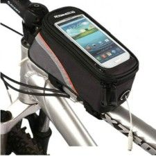 Waterproof Bicycle Frame Pannier Front Tube Bag For Cell Phone