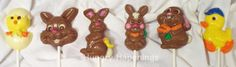 How to make hand painted chocolate Easter lollipops
