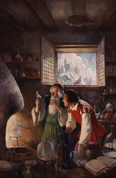 N.C. Wyeth (American:1882 – 1945) - The Alchemist
