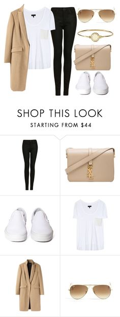 """Geen titel #305"" by beautstakingovertheworld ❤ liked on Polyvore featuring Topshop, Yves Saint Laurent, Vans, rag & bone, Ray-Ban and Marc by Marc Jacobs"